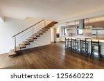nice modern loft  view of the... | Shutterstock . vector #125660222