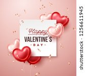 valentines day background with... | Shutterstock .eps vector #1256611945