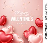 valentines day background with... | Shutterstock .eps vector #1256611948