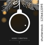 christmas background with ball. ...   Shutterstock . vector #1256612095