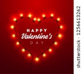 valentines day background.... | Shutterstock .eps vector #1256613262