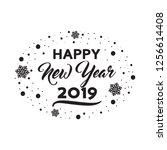 happy new year 2019 background. | Shutterstock .eps vector #1256614408