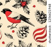 vector seamless pattern with... | Shutterstock .eps vector #1256621968