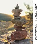 Stack Of Rocks Called A Cairn...