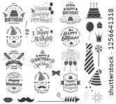 set of happy birthday templates ... | Shutterstock .eps vector #1256641318