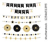 set of birthday or new year... | Shutterstock .eps vector #1256651395