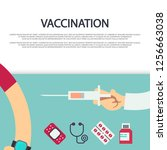 vaccination concept banner... | Shutterstock . vector #1256663038