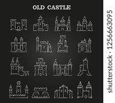 white chalk medieval castles...