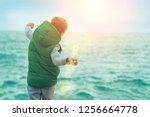 happy childhood  little boy...   Shutterstock . vector #1256664778