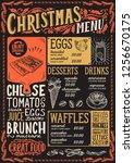 christmas menu template for... | Shutterstock .eps vector #1256670175