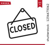 closed icon vector | Shutterstock .eps vector #1256675062