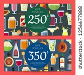 gift voucher or discount card... | Shutterstock . vector #1256677888