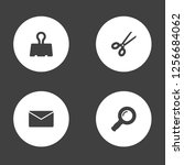 set of 4 instruments icons set. ... | Shutterstock .eps vector #1256684062