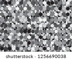 monochrome vector abstract... | Shutterstock .eps vector #1256690038