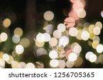 bokeh from christmas lights... | Shutterstock . vector #1256705365