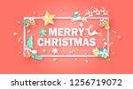 merry christmas calligraphy... | Shutterstock .eps vector #1256719072