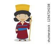 persian cartoon character.... | Shutterstock .eps vector #1256724238