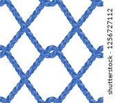 braid pattern. tassel. fringe.... | Shutterstock .eps vector #1256727112