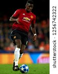 paul pogba of manchester united ... | Shutterstock . vector #1256742322