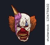 Demon Clown With Ice Cream On...