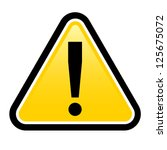 danger warning sign.  render... | Shutterstock .eps vector #125675072