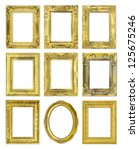 the antique gold frame on the... | Shutterstock . vector #125675246