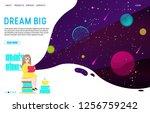 dream big landing page website... | Shutterstock .eps vector #1256759242