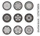 wheels   Shutterstock .eps vector #125676806