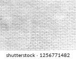 white brick wall pattern gray... | Shutterstock . vector #1256771482