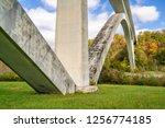 double arch bridge on natchez... | Shutterstock . vector #1256774185