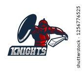 knights counter attack logo...   Shutterstock .eps vector #1256776525