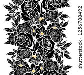 abstract elegance seamless... | Shutterstock . vector #1256788492