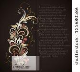 vintage card design for...   Shutterstock .eps vector #125680586