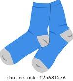 blue socks | Shutterstock .eps vector #125681576