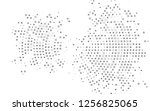 light silver  gray vector... | Shutterstock .eps vector #1256825065