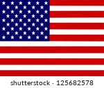 usa flag drawing by pastel on... | Shutterstock . vector #125682578