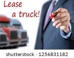 businessman leasing a new truck ... | Shutterstock . vector #1256831182