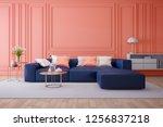 luxury modern interior of... | Shutterstock . vector #1256837218