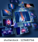 human joints concept with the... | Shutterstock . vector #125683766