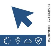 click icon stock vector... | Shutterstock .eps vector #1256839348
