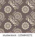 seamless vector vintage pattern | Shutterstock .eps vector #1256843272