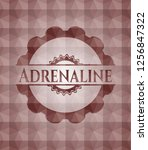adrenaline red badge with...   Shutterstock .eps vector #1256847322