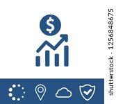 dollar sign icon stock vector... | Shutterstock .eps vector #1256848675