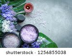lavender aromatherapy spa with...   Shutterstock . vector #1256855038