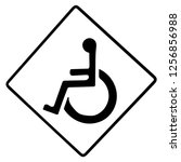 handicaped   icon isolated on... | Shutterstock .eps vector #1256856988