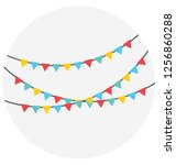 buntings  pennants vector icon ... | Shutterstock .eps vector #1256860288