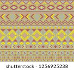 peruvian american indian... | Shutterstock .eps vector #1256925238