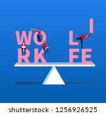 keep life and work balanced | Shutterstock .eps vector #1256926525