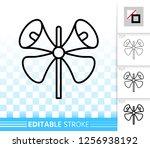 megaphone thin line icon.... | Shutterstock .eps vector #1256938192