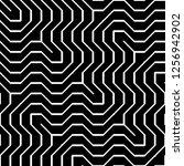 design seamless monochrome...   Shutterstock .eps vector #1256942902